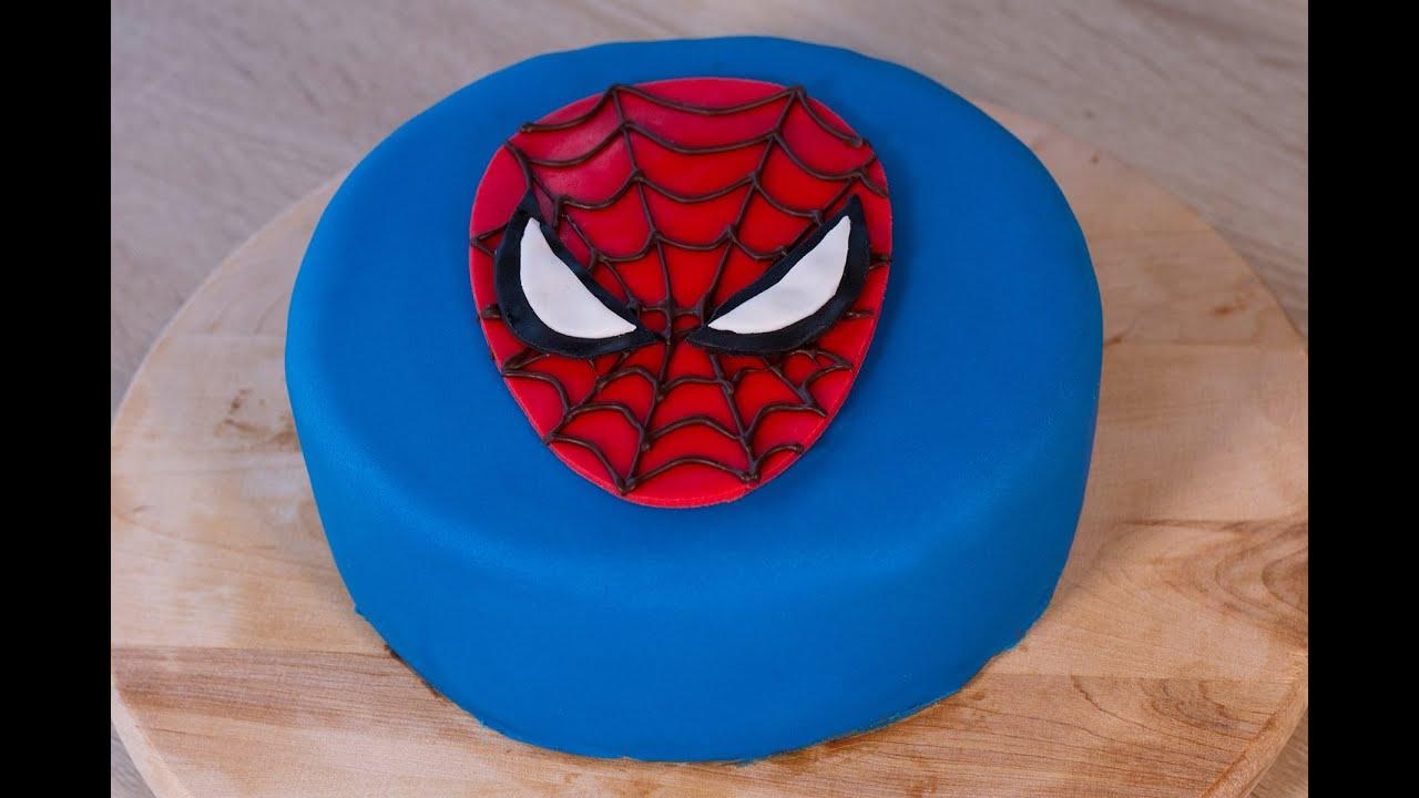 Gâteau Spiderman encequiconcerne Tete Spiderman A Imprimer