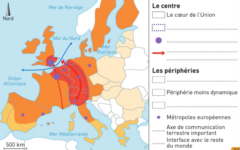 Géo 3Ème Iii - La France Et L'union Européenne - La P intérieur Les Capitales De L Union Européenne