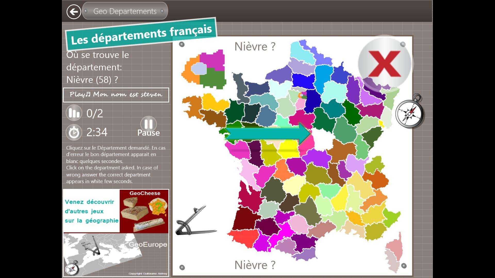 Géo Départements - Petitsgeeks.fr avec Jeux Des Départements Français