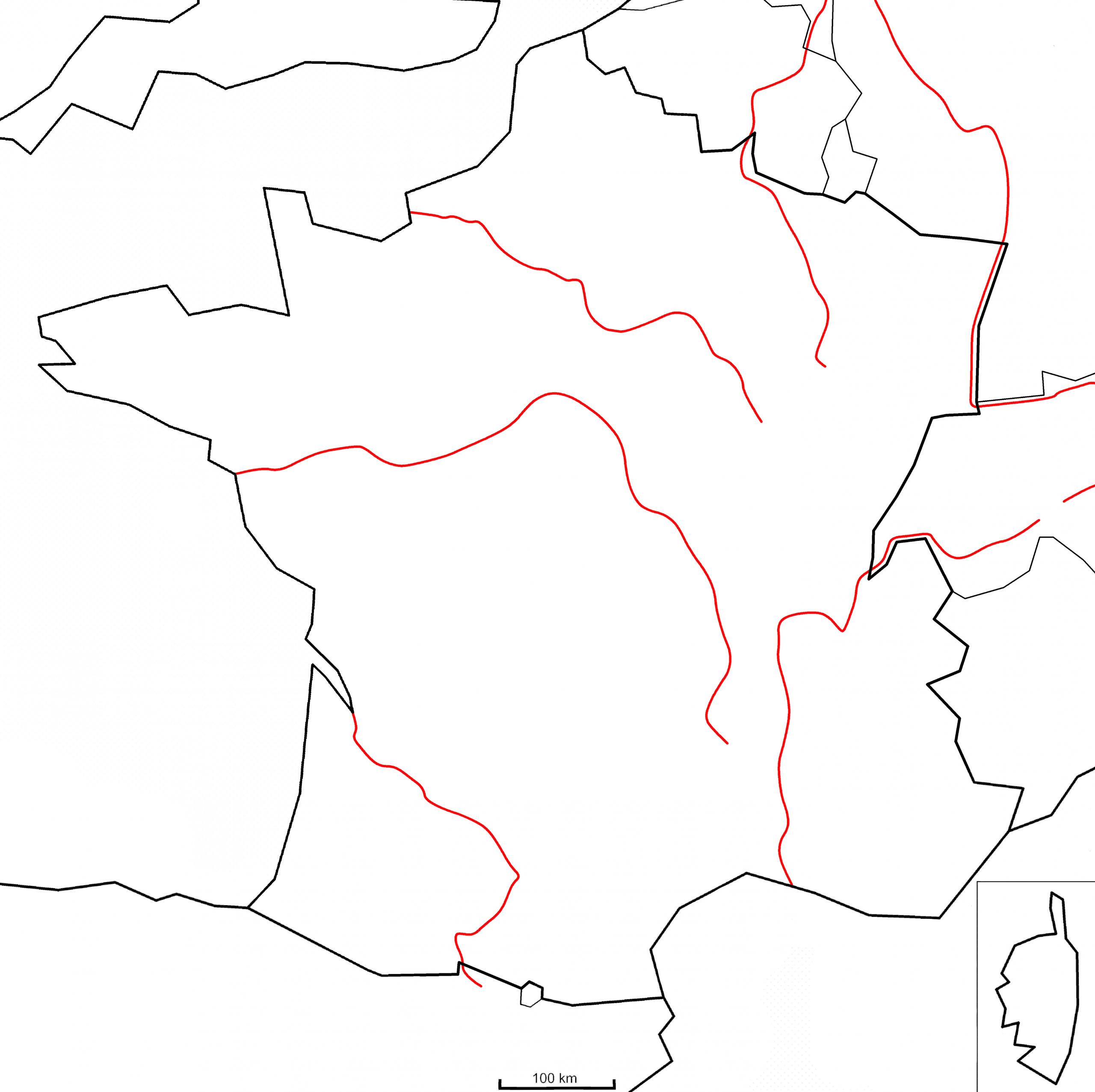 Géographie - (Page 2) - Montessori Etcie concernant Carte Vierge De La France