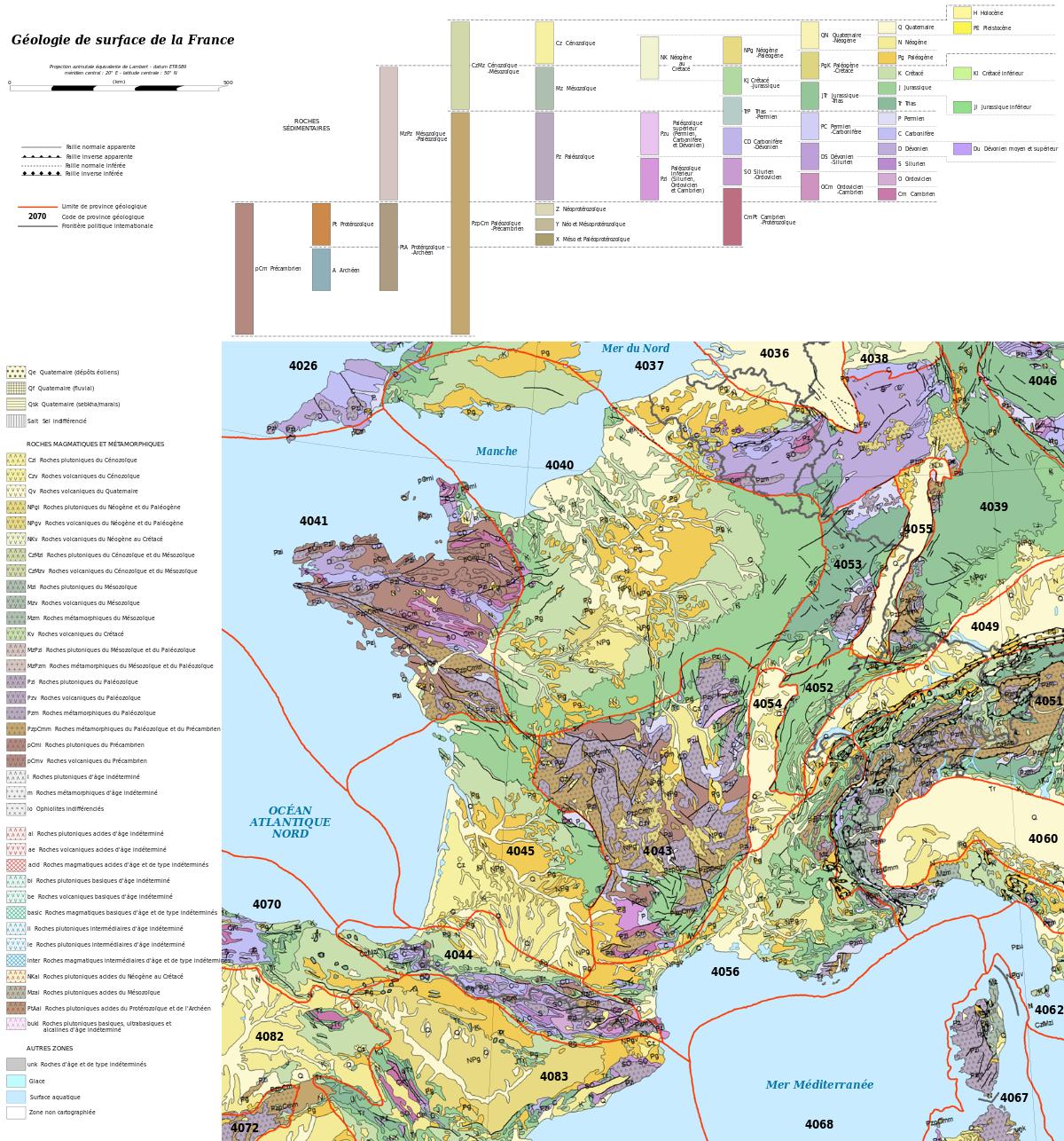 Géologie De La France — Wikipédia pour Puzzle 5 Ans En Ligne