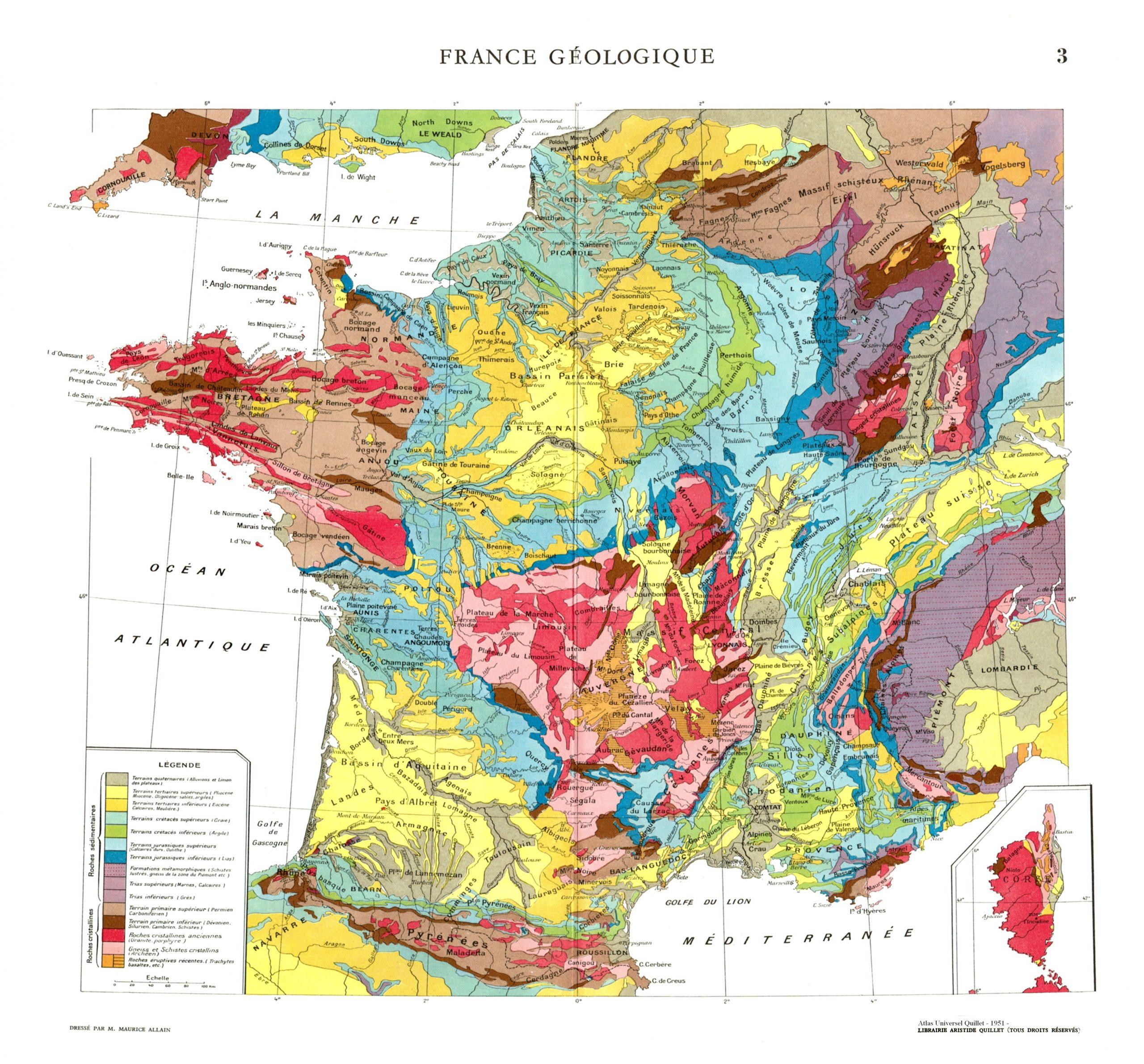 Geology Of France ( Carte Géologique De La France concernant Mappe De France