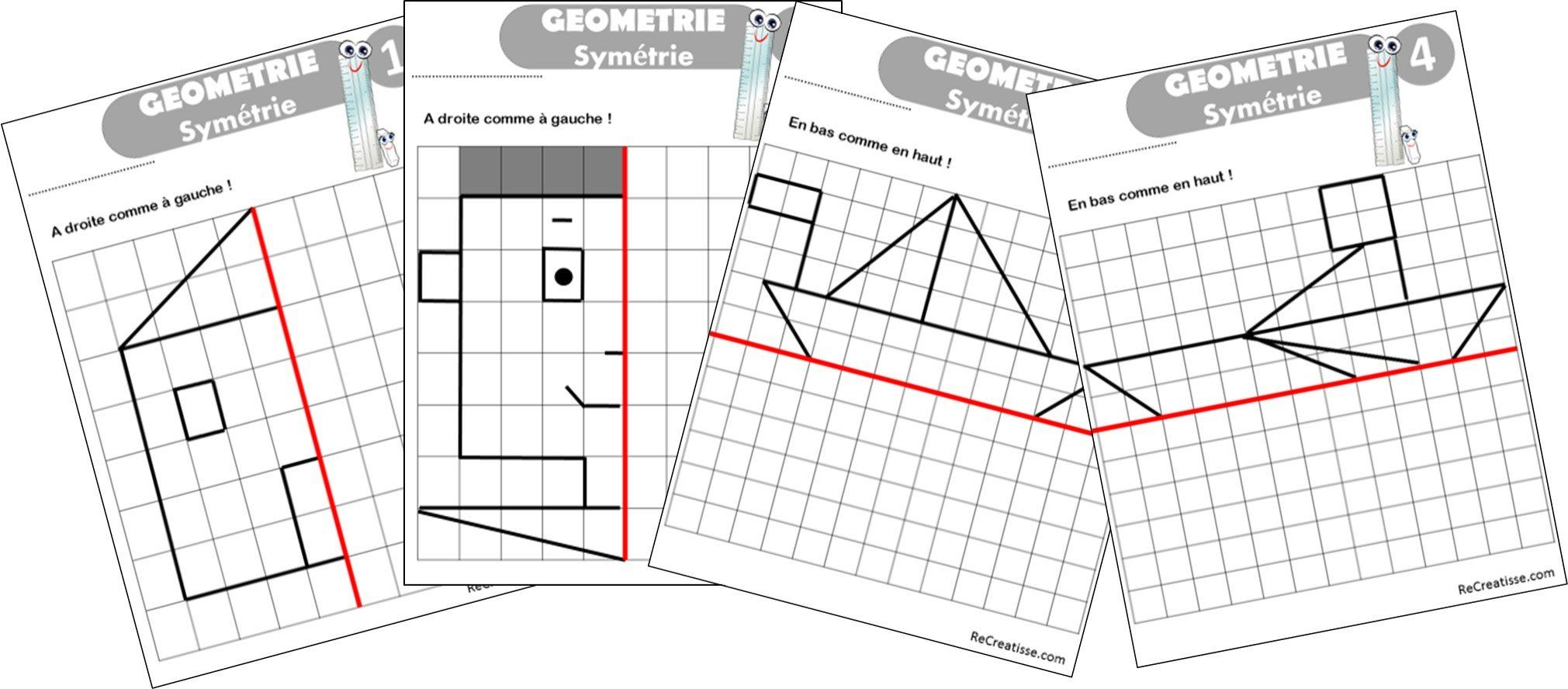 Geometrie : Ateliers Symétrie Et Exercices | Axe De Symétrie intérieur Symétrie Cm1 Exercices