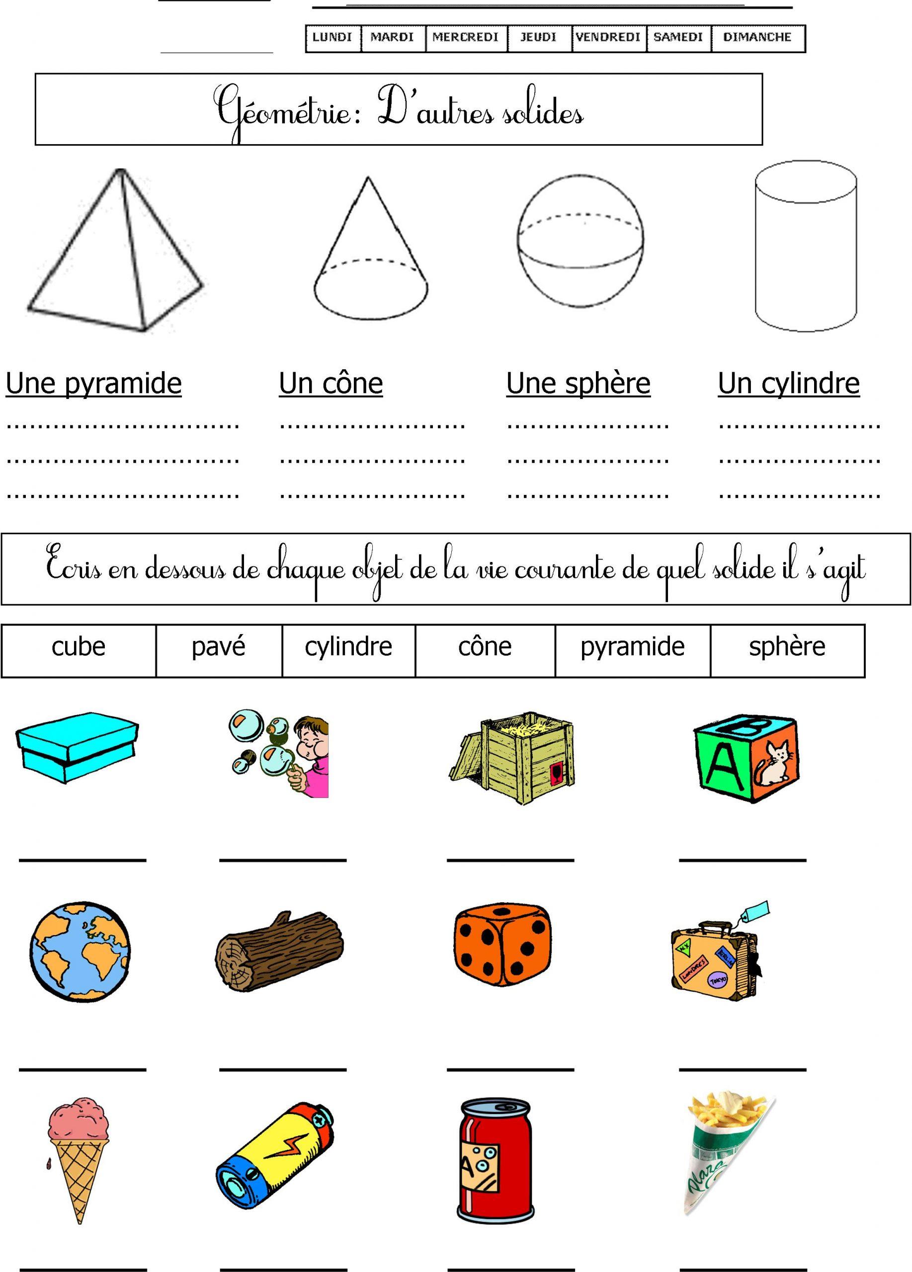 Géométrie Cp | Le Blog De Monsieur Mathieu concernant Exercice Symétrie Ce1