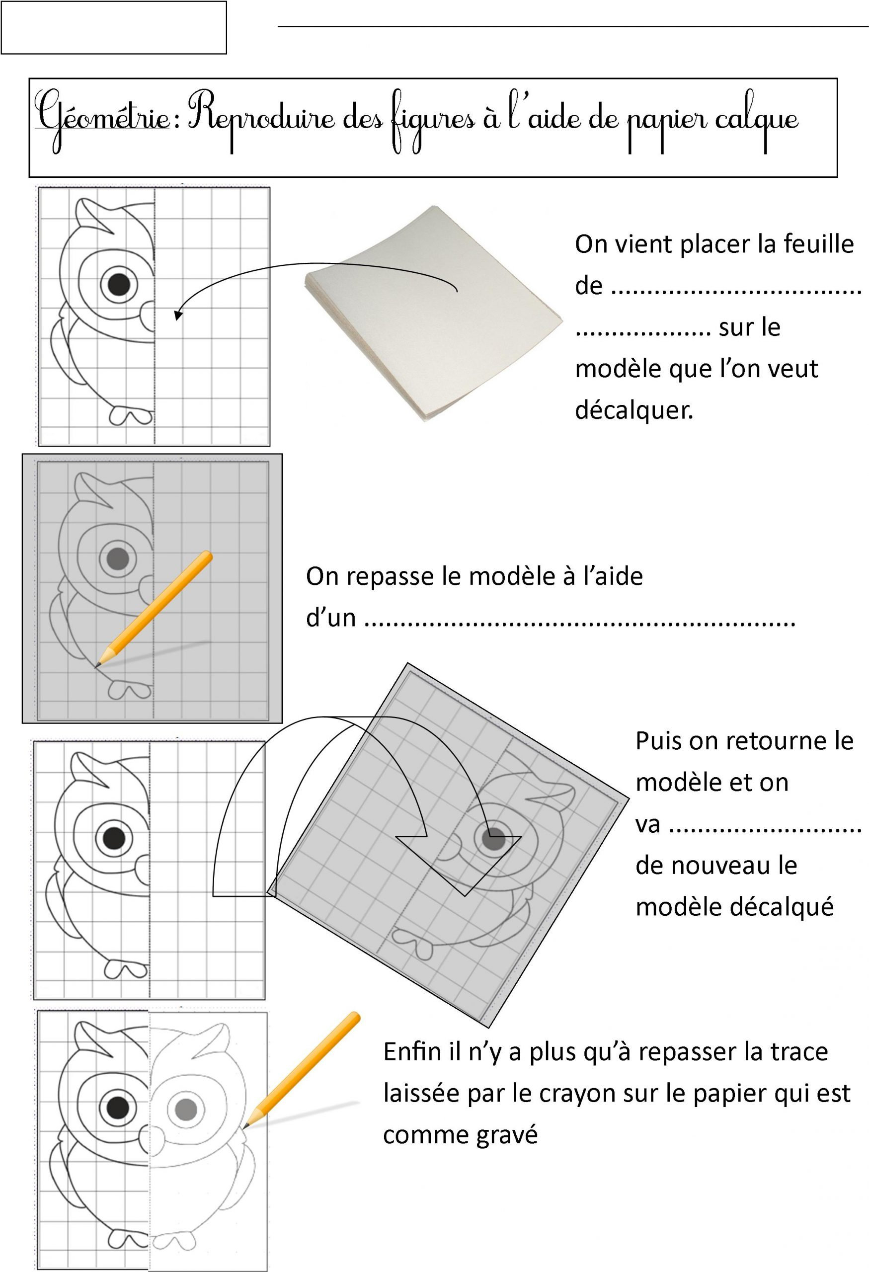 Géométrie Cp | Le Blog De Monsieur Mathieu dedans Exercice Symétrie Ce1