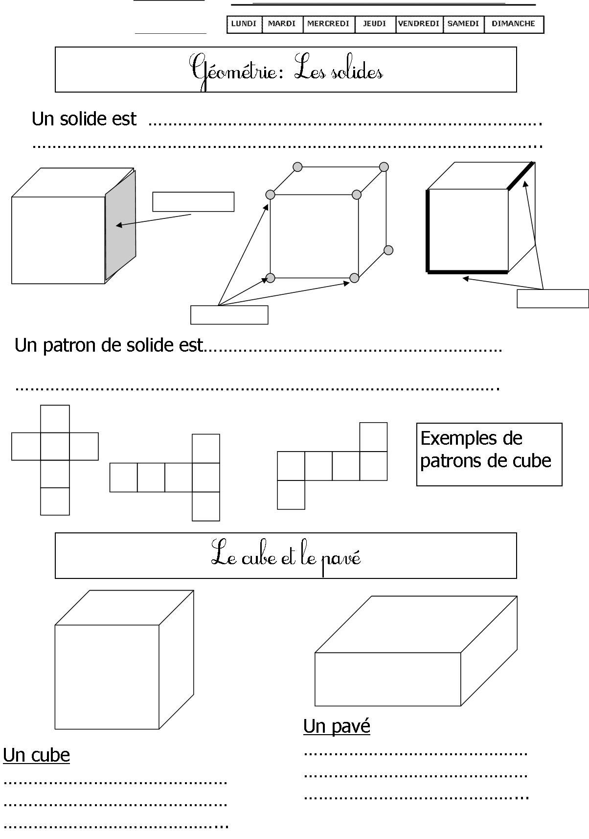 Géométrie | Le Blog De Monsieur Mathieu destiné Exercice Symétrie Ce1