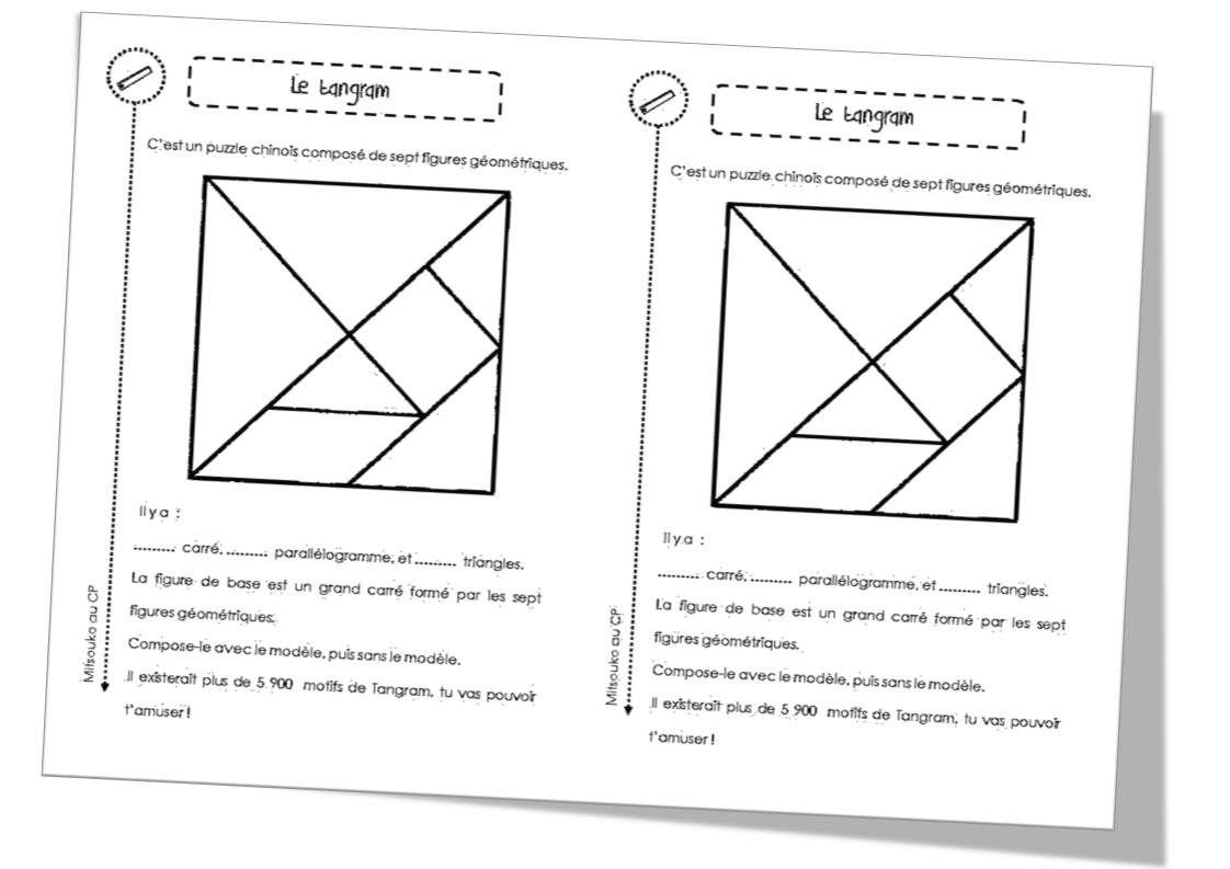 Géométrie, Observation, Espace Et Logique   Géométrie, Jeux avec Tangram Carré