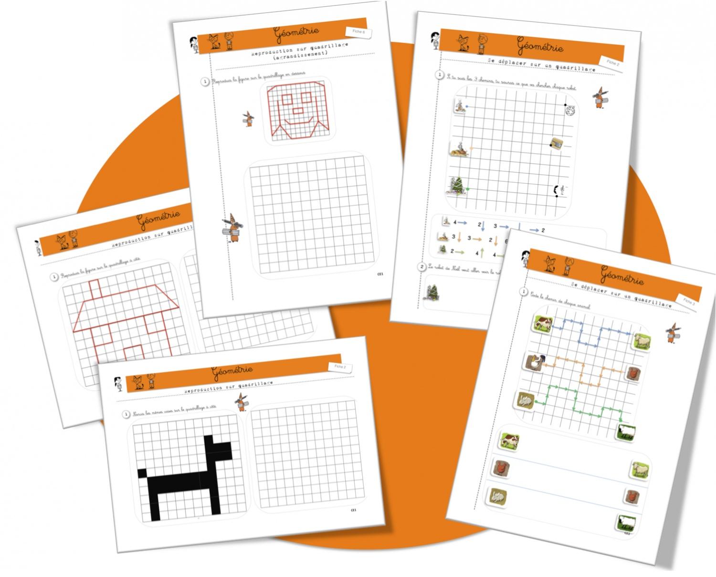 Géométrie : Repérages , Reproductions Et Déplacements Sur concernant Quadrillage À Imprimer