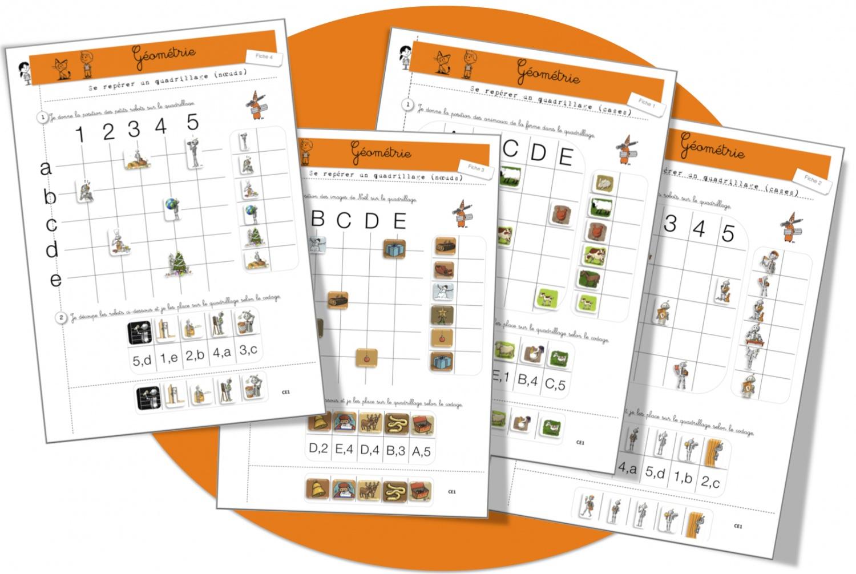 Géométrie : Repérages , Reproductions Et Déplacements Sur tout Quadrillage À Imprimer