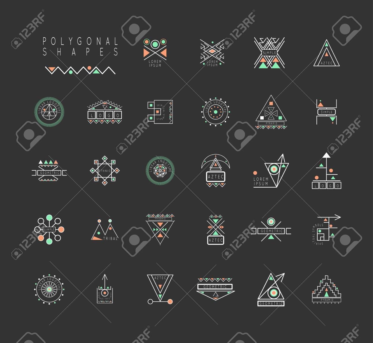 Géométrie Sacrée. Jeu De Formes Géométriques Minimales. Signes D'affaires,  Étiquettes, Hippie Mode Icônes Linéaires. Religion, Philosophie, dedans Jeu De Forme Géométrique