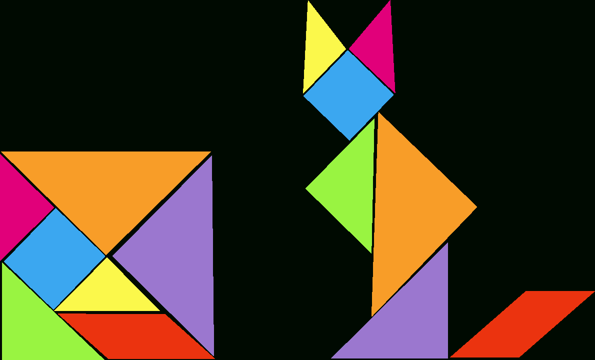 Geometry And 2D Shapes With The Help Of A Tangram tout Tangram Simple