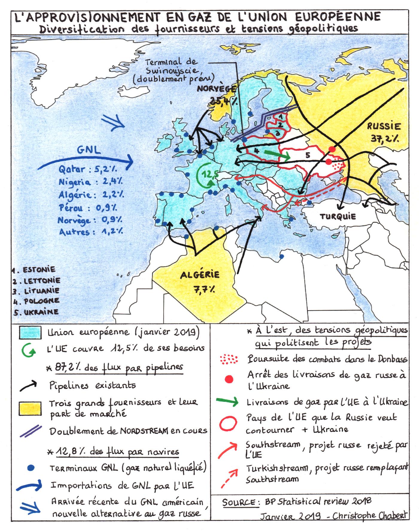 Géopolitique Du Gaz Naturel De L'union Européenne dedans La Carte De L Union Européenne