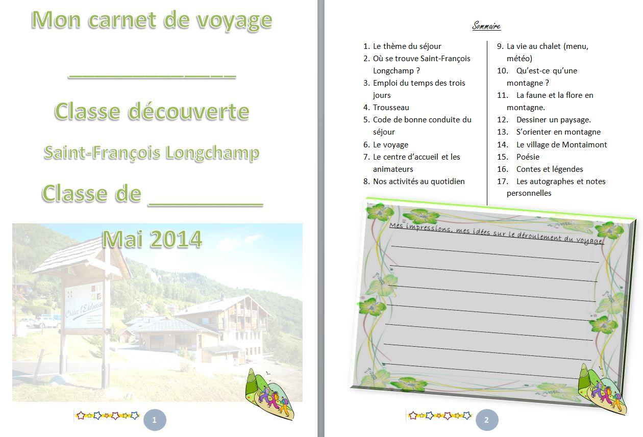 Gestion De Classe : Carnet De Classe Découverte - Un Petit avec Journal De Vacances A Imprimer