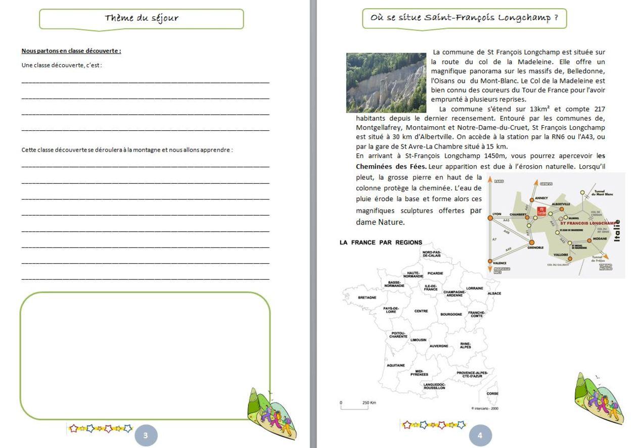 Gestion De Classe : Carnet De Classe Découverte - Un Petit pour Journal De Vacances A Imprimer