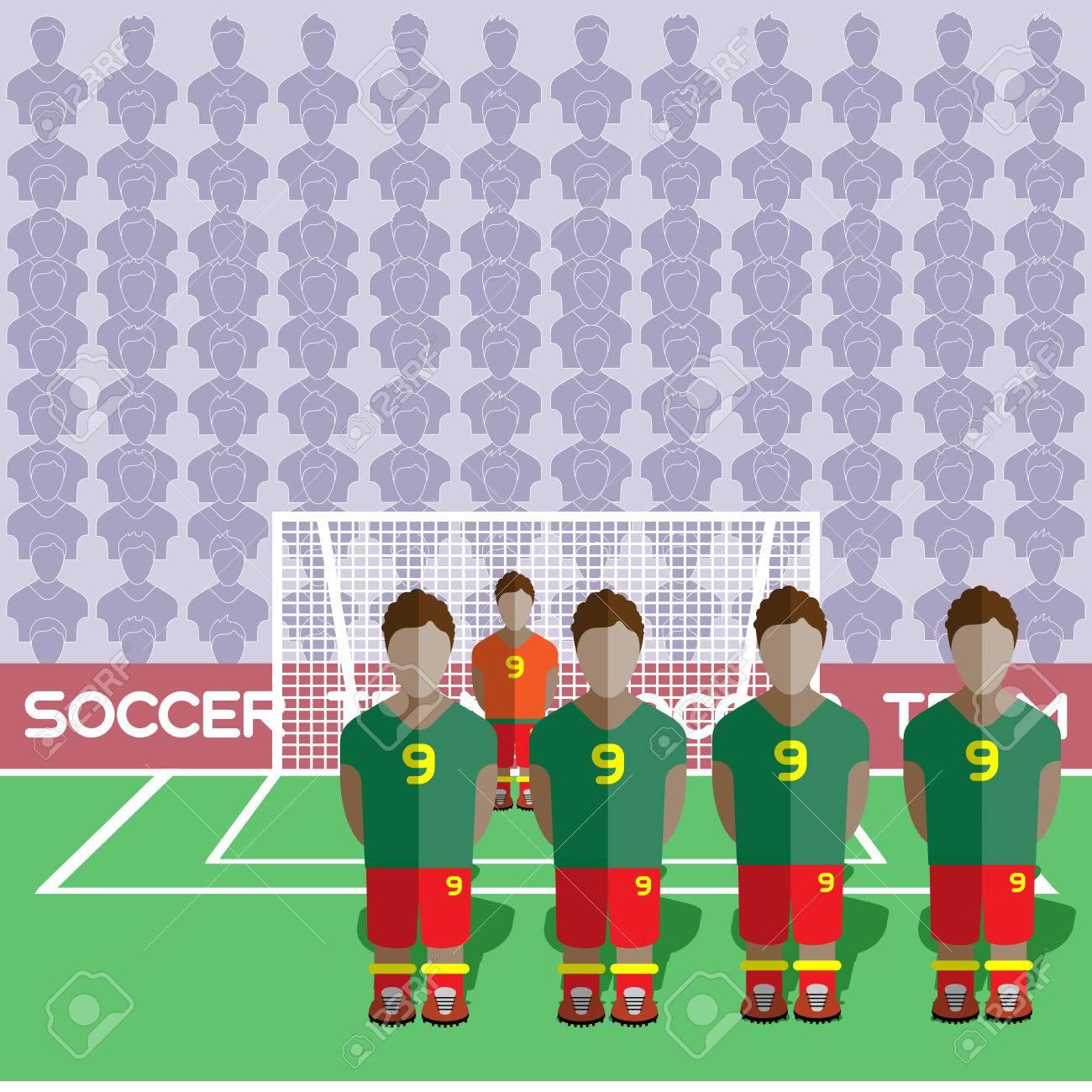 Ghana Football Club Soccer Players Silhouettes. Jeux Rmatiques Équipe  De Football Joueurs Big Set. Graphique Sportif. Les Équipes De Football pour Jeux De Gardien De Foot