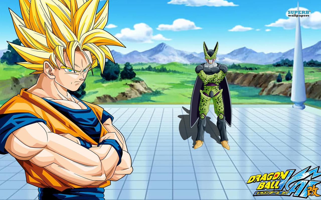Goku & Cell - Dragon Ball Z Kai Wallpaper - Anime Wallpapers intérieur Dessin Animé De Dragon Ball Z