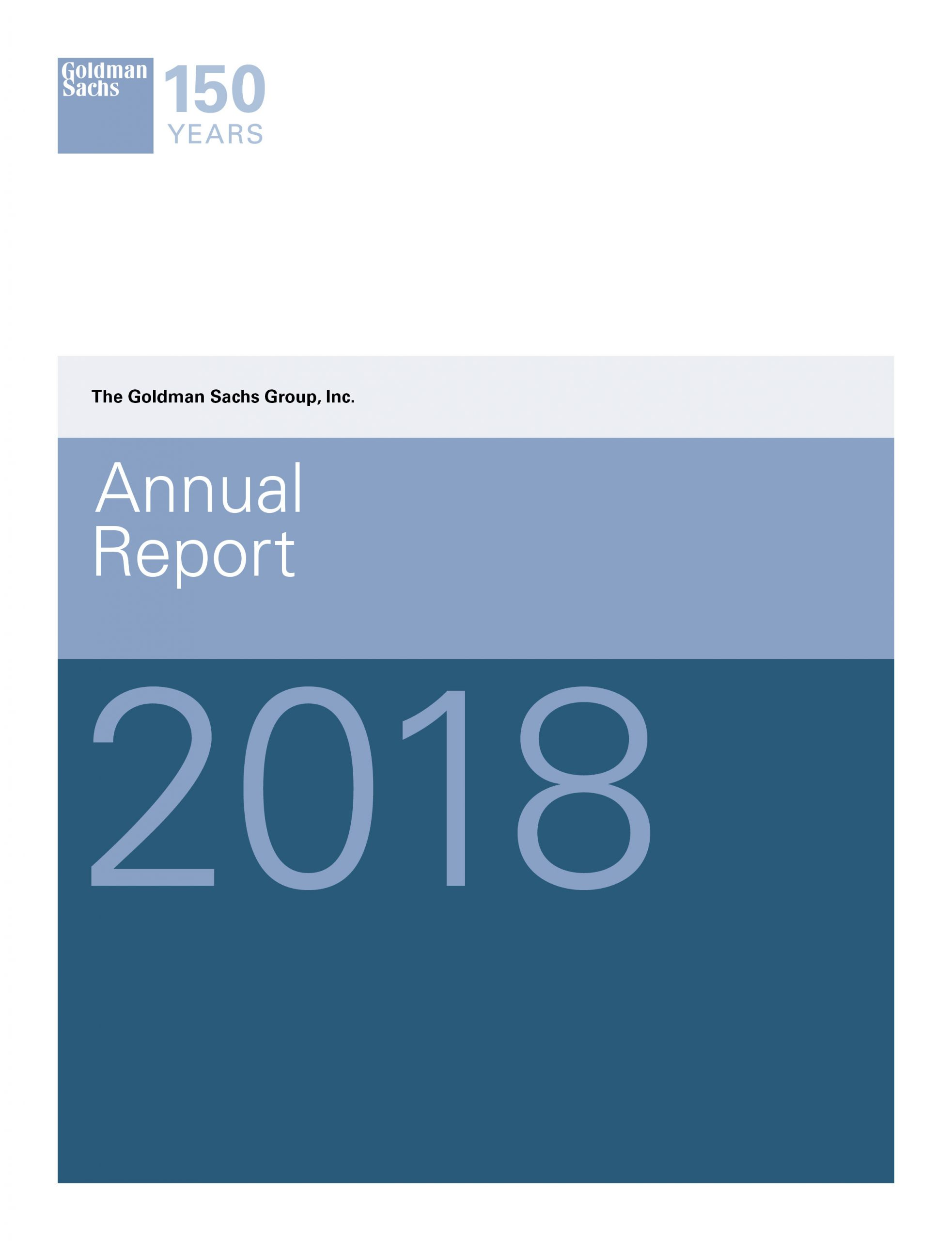Goldman Sachs 2018 Annual Report pour Planning Annuel 2018