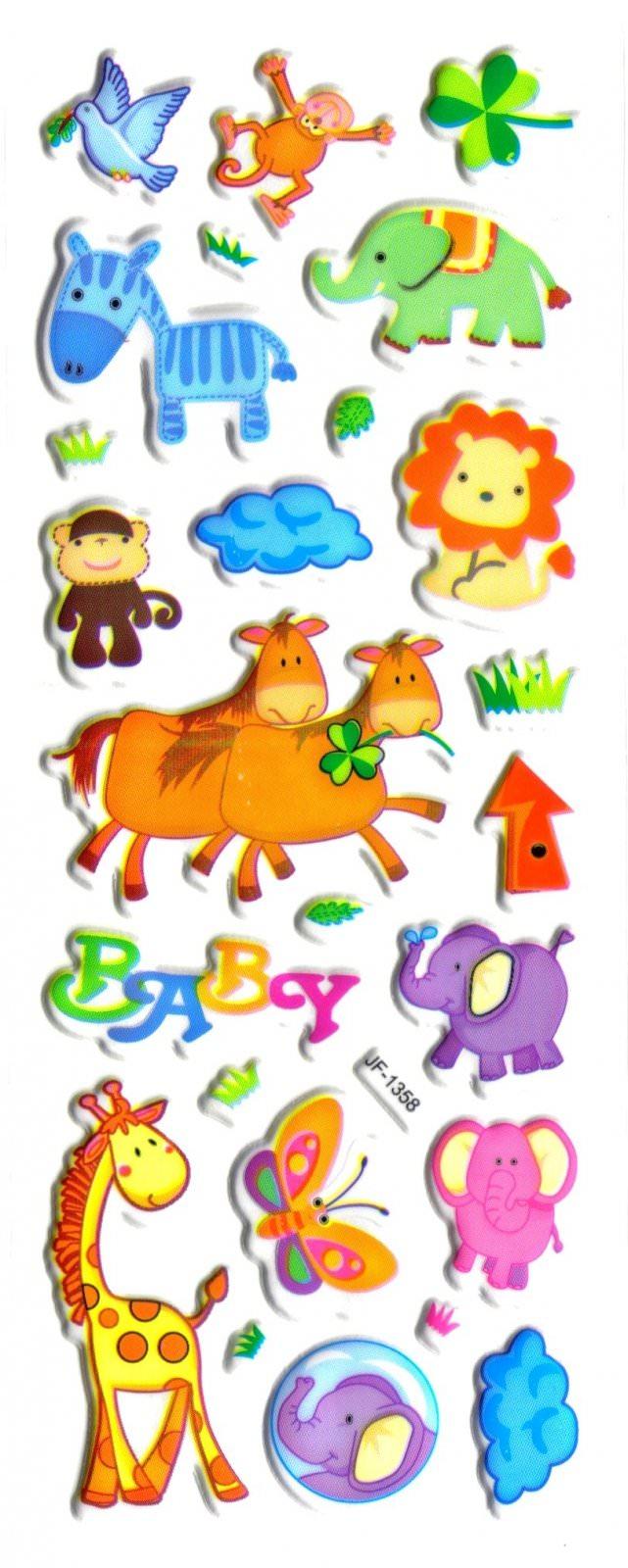 Gommettes Animaux -Gommettes Autocollantes Animaux tout Apprendre Les Animaux Pour Bebe