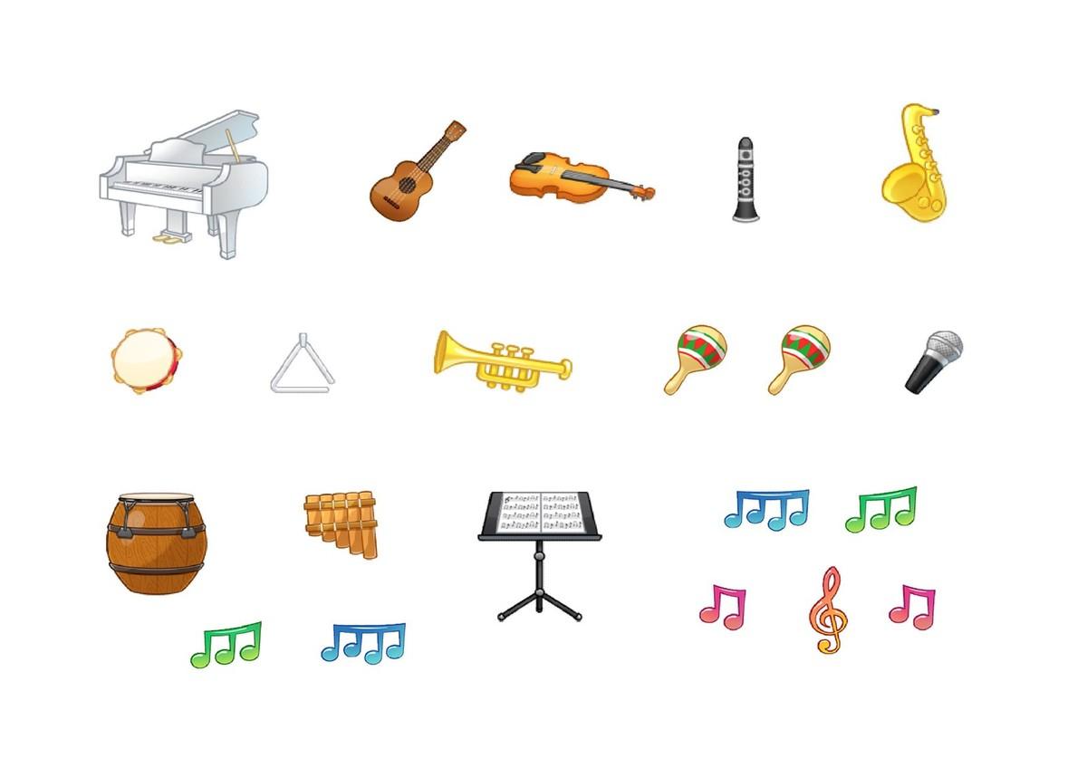 Gommettes Instruments De Musique (1 Planche) - Le Blog De Carole pour Image Instrument De Musique À Imprimer