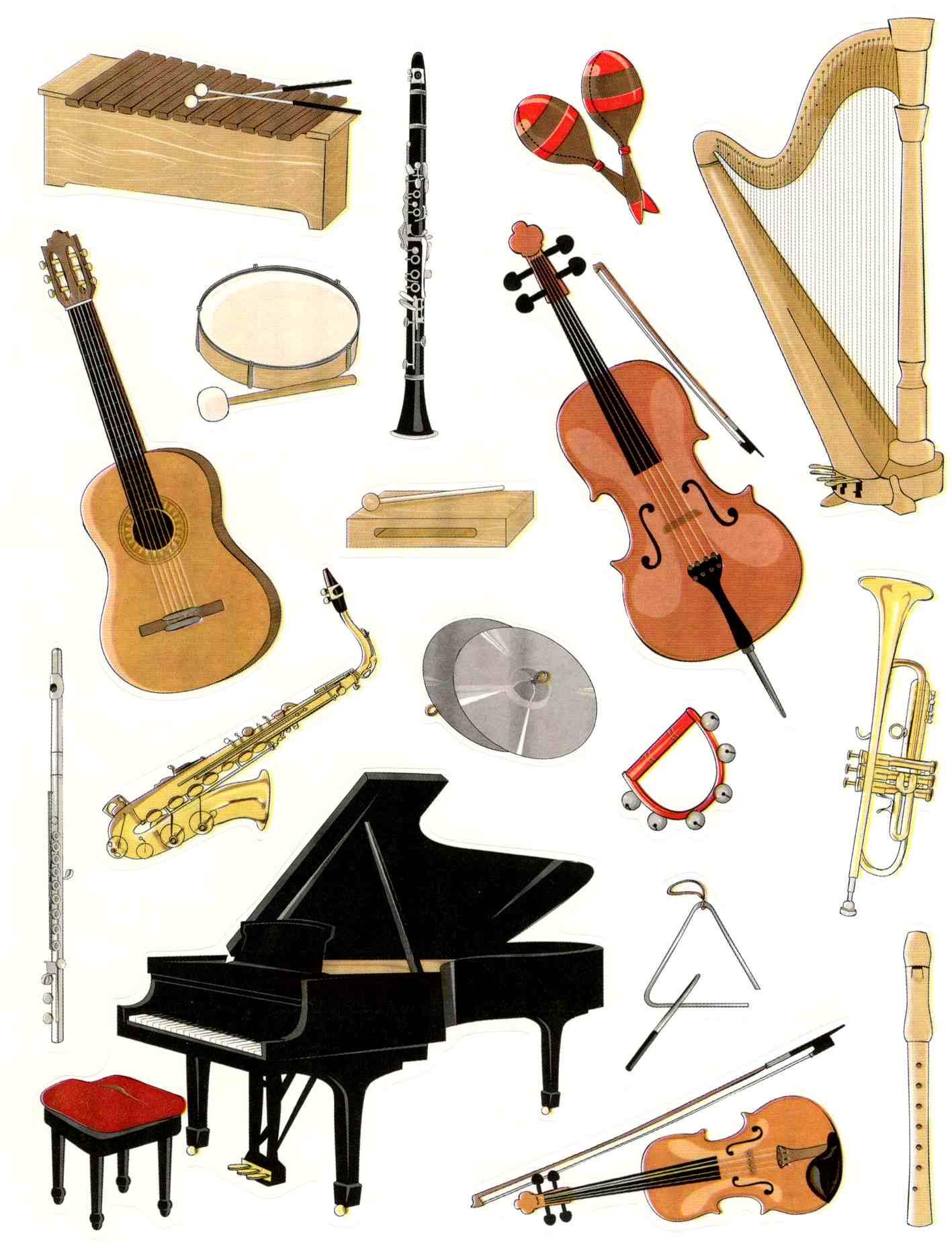 Gommettes Instruments De Musique à Image Instrument De Musique À Imprimer