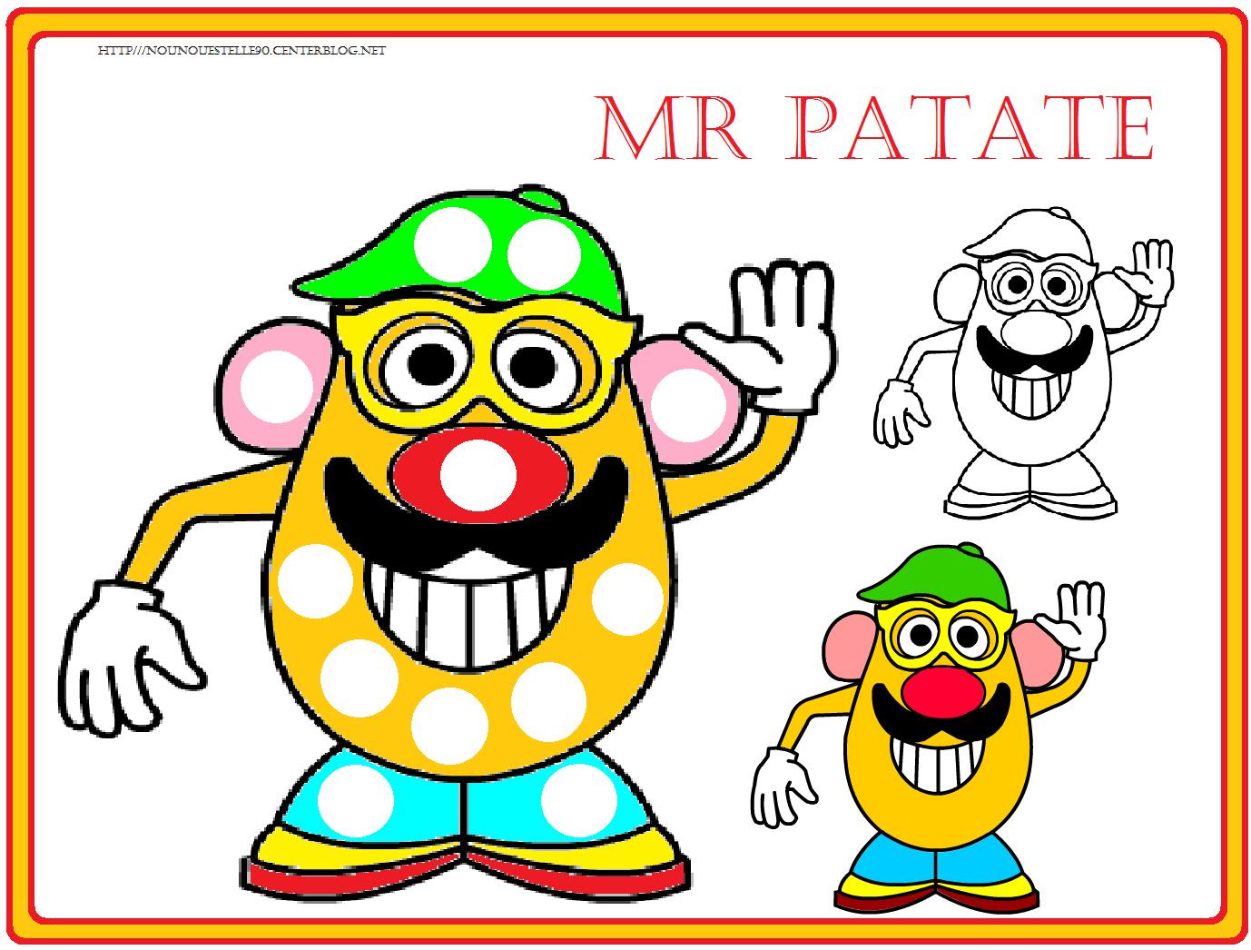 Gommettes Mr Patate à Coloriage Mr Patate