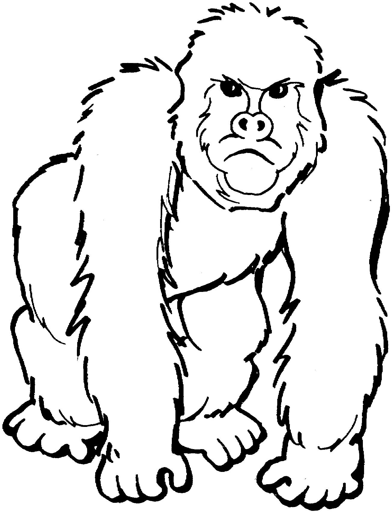 Gorille #1 (Animaux) – Coloriages À Imprimer destiné Coloriage Afrique À Imprimer