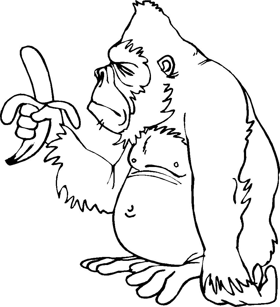 Gorille #49 (Animaux) – Coloriages À Imprimer tout Coloriage Gorille