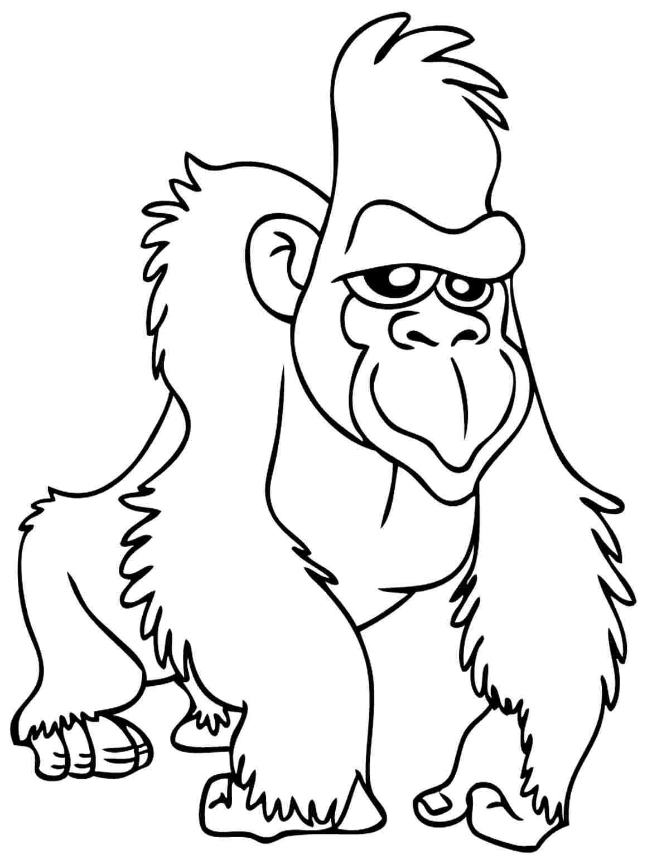 Gorille #50 (Animaux) – Coloriages À Imprimer intérieur Coloriage Gorille