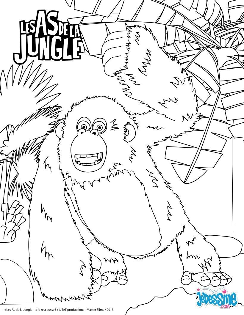 Gorille : Coloriages, Lire Et Apprendre, Vidéos Et Tutoriels intérieur Coloriage Gorille
