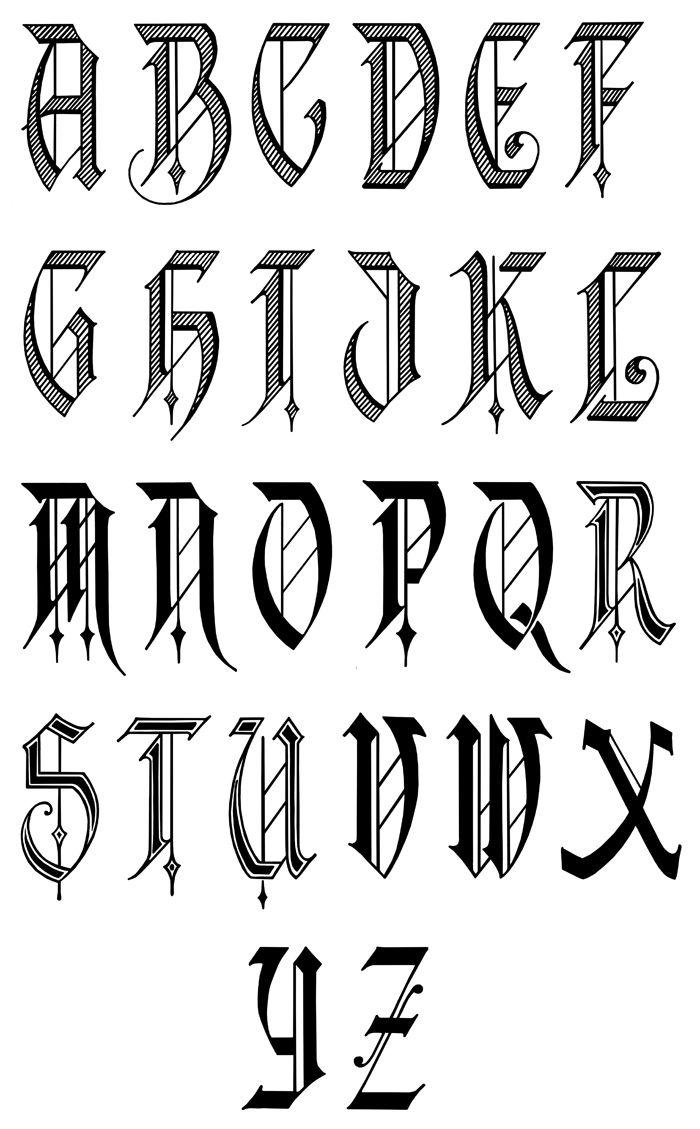 Gothic | Calligraphie Alphabet, Caligraphie Et Lettrage dedans Modele Lettre Alphabet