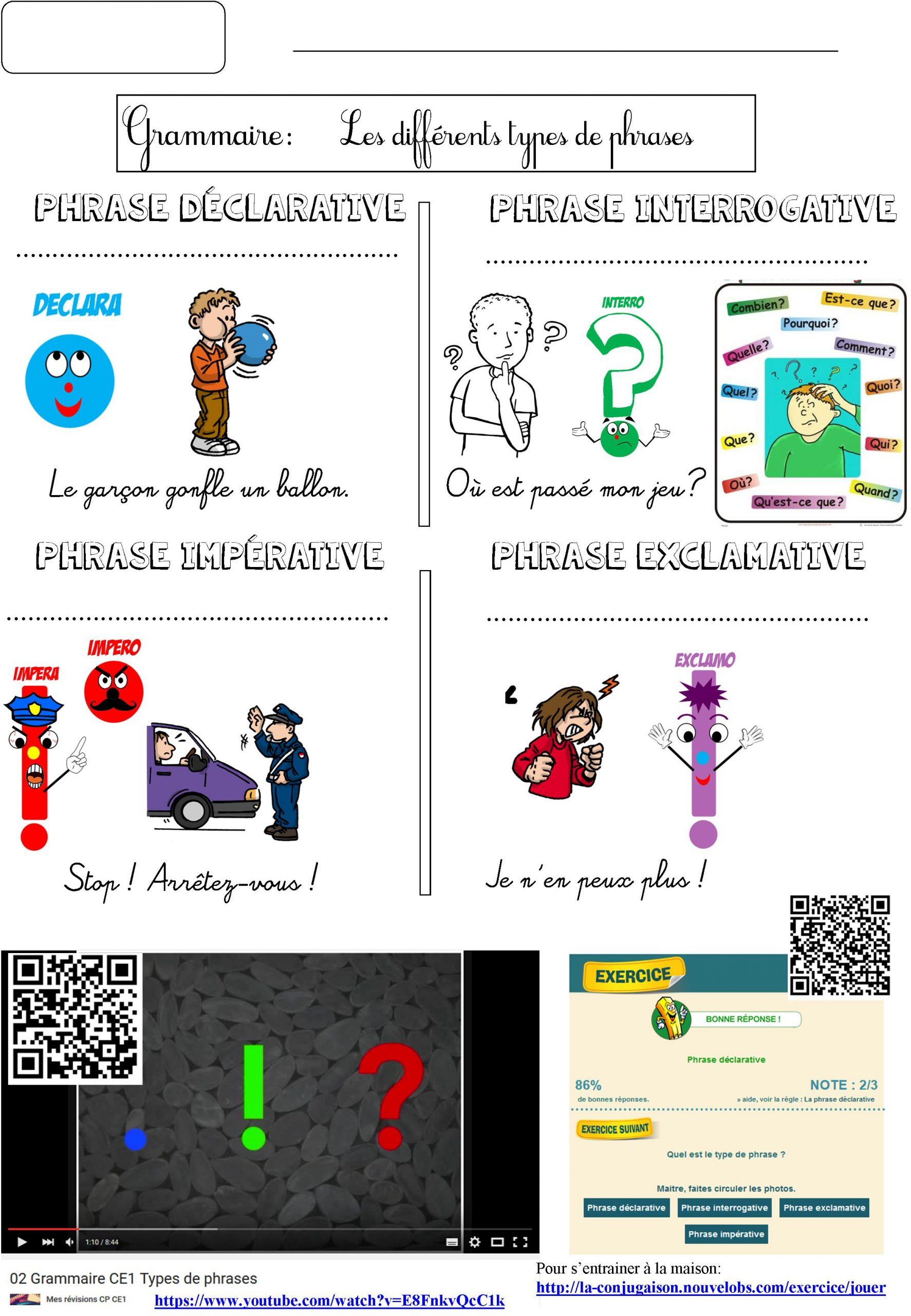 Grammaire Ludique | Le Blog De Monsieur Mathieu avec Exercice Ludique