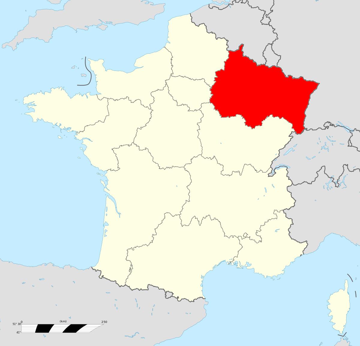 Grand Est — Wikipédia destiné Régions De France Liste