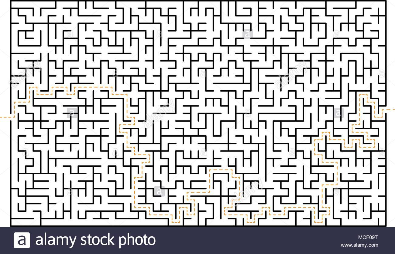 Grand Jeu Labyrinthe Labyrinthe Difficile Isolé Sur Fond dedans Labyrinthe Difficile