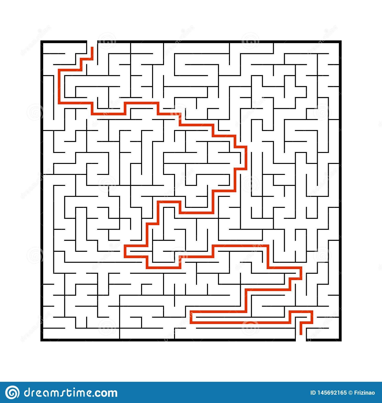 Grand Labyrinthe Difficile Jeu Pour Des Enfants Et Des destiné Jeux De Labyrinthe Gratuit