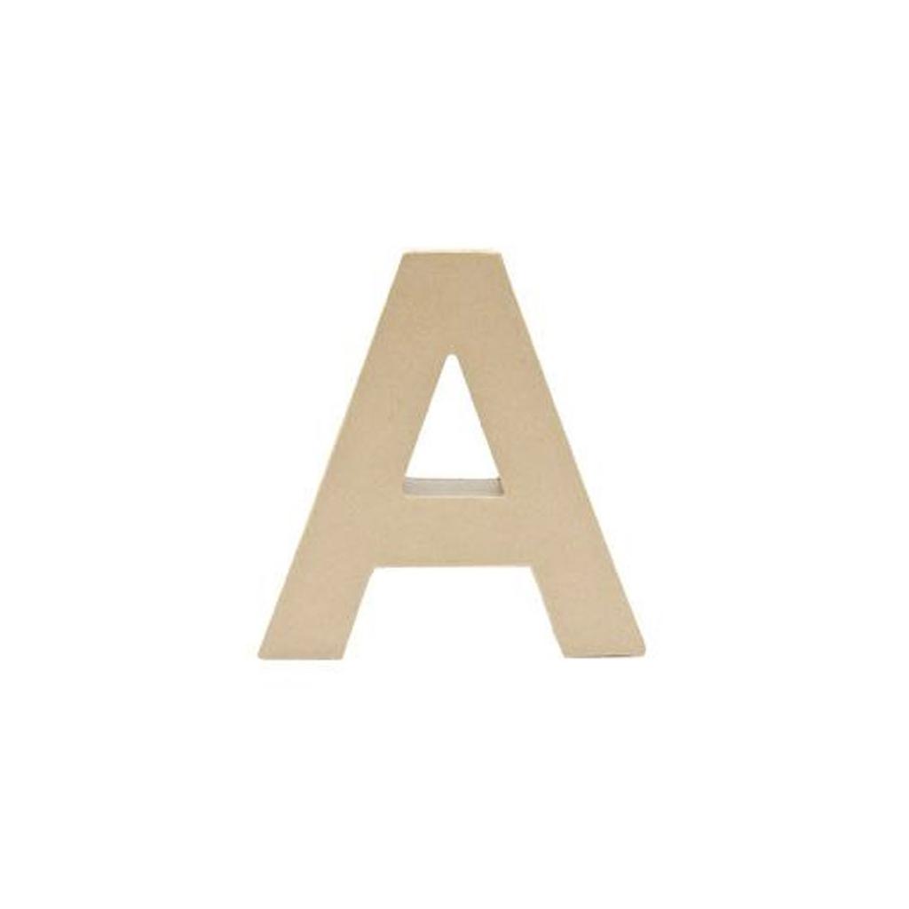 Grande Lettre A En Papier Mâché 17.5 X 17 Cm À Poser Et À Décorer dedans Papier A Lettre Enfant
