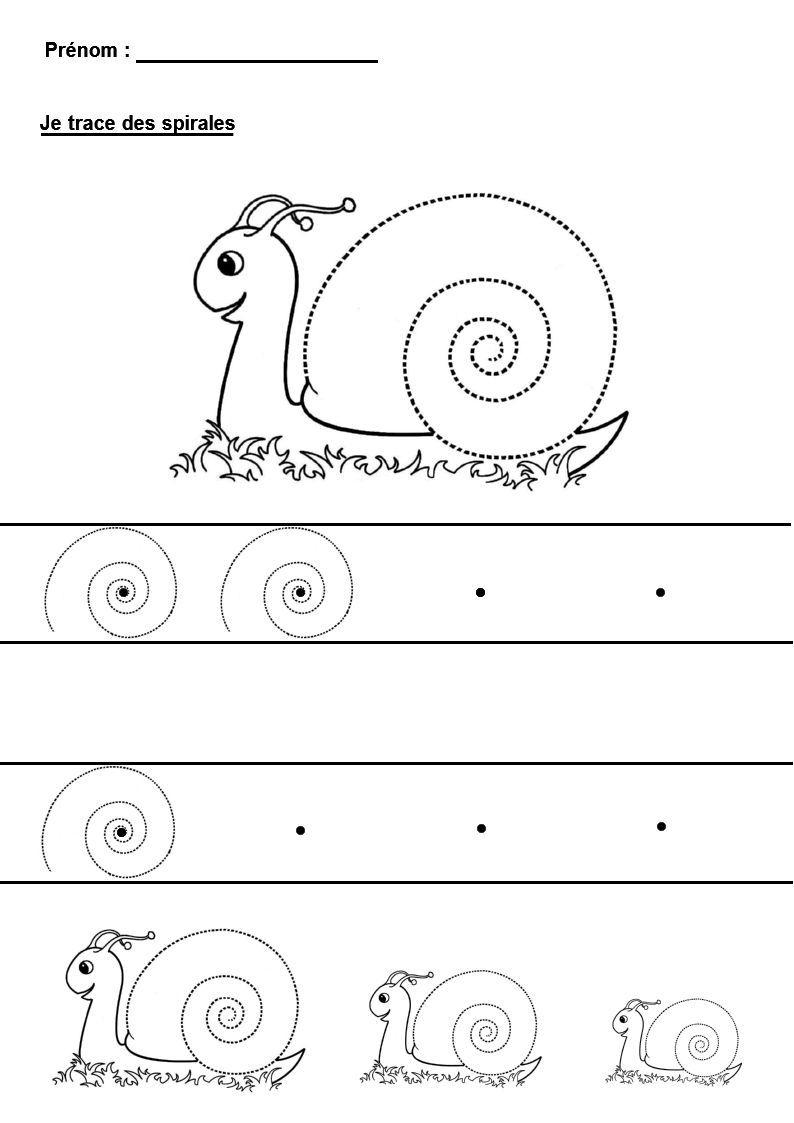 Graphisme En Maternelle : Tracer Des Spirales | Activités De serapportantà Graphisme Maternelle A Imprimer Gratuit