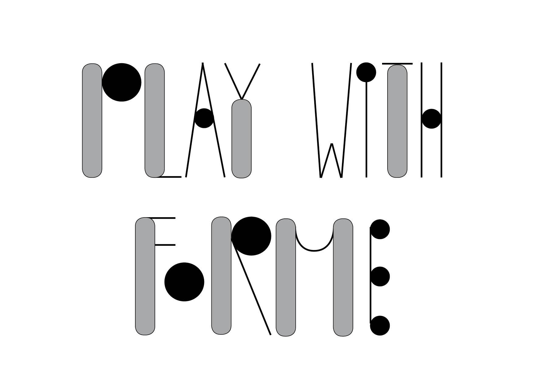 Graphisme Et Dessin De Lettre : Création De Typographie pour Jeux Ludique Enfant