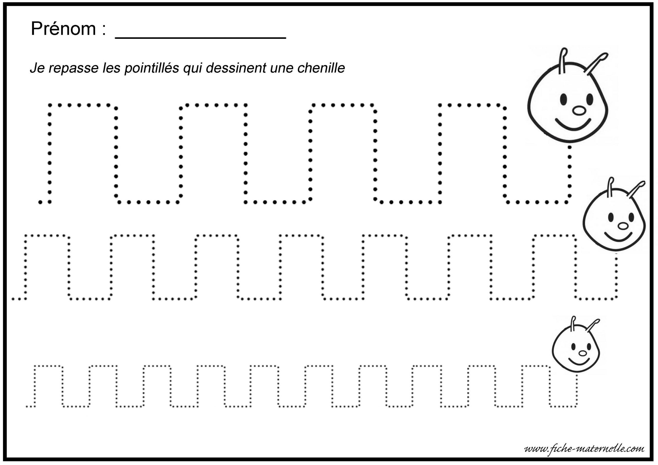 Graphisme Gs Et Ms intérieur Fiche Graphisme Maternelle