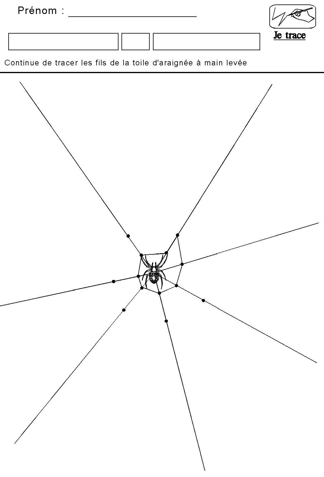 Graphisme | Kleurplaten, Knutselideeën, Papier destiné Dessin Toile Araignée