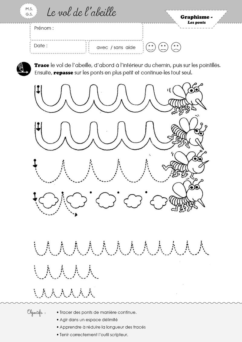 Graphisme Les Ponts à Graphisme Maternelle A Imprimer Gratuit