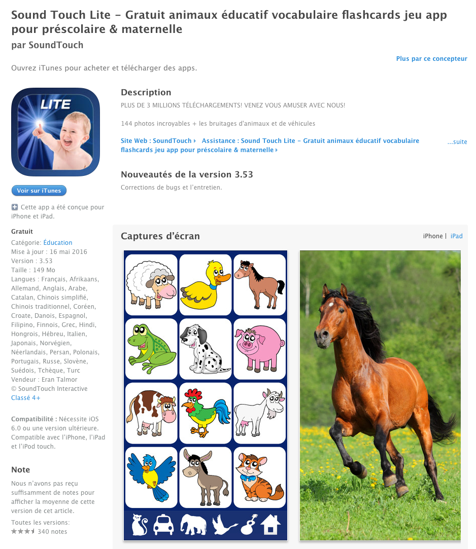 Gratuit Animaux Éducatif Vocabulaire Flashcards Jeu App Pour destiné Jeux Educatif Gratuit Maternelle
