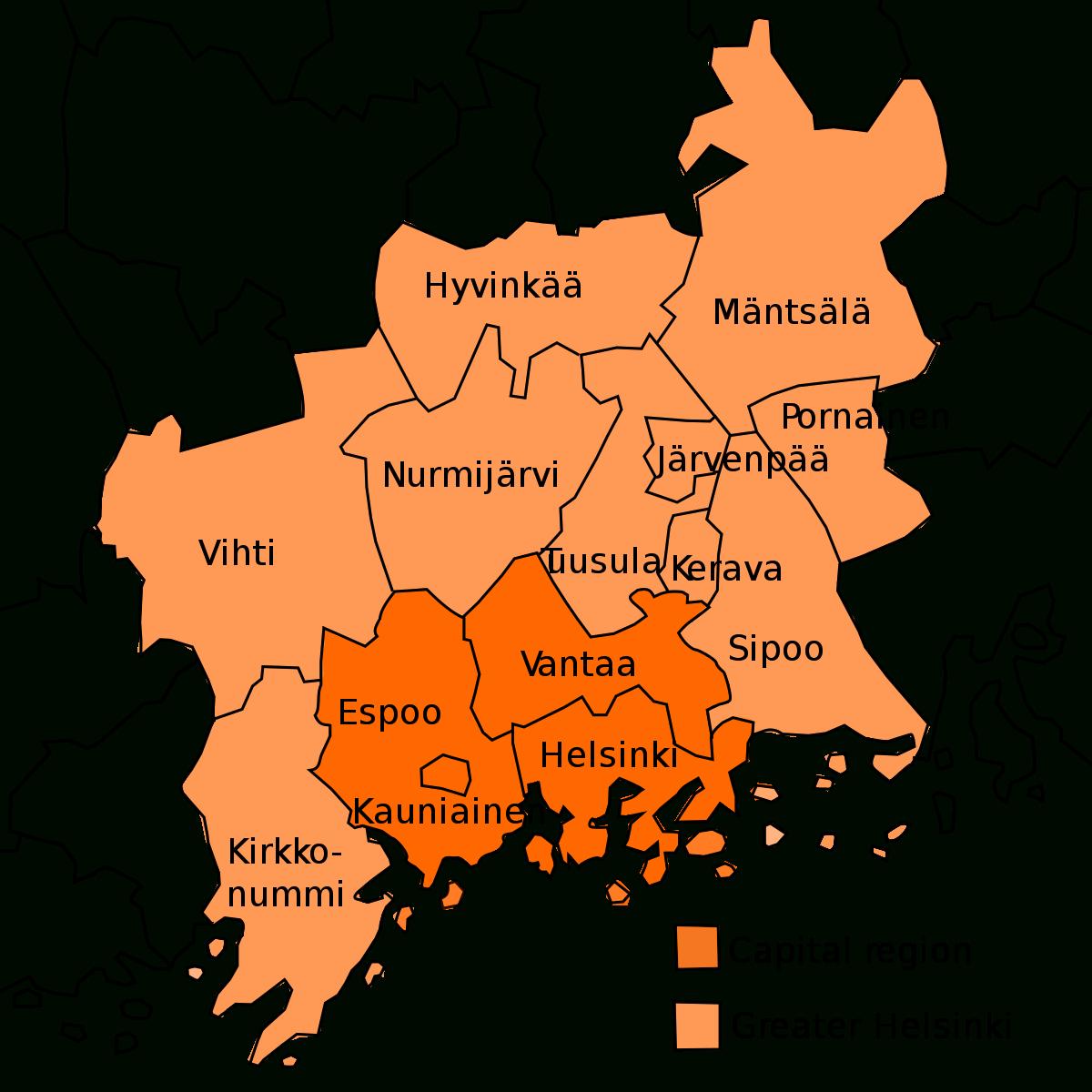 Greater Helsinki - Wikipedia serapportantà Nombre De Region