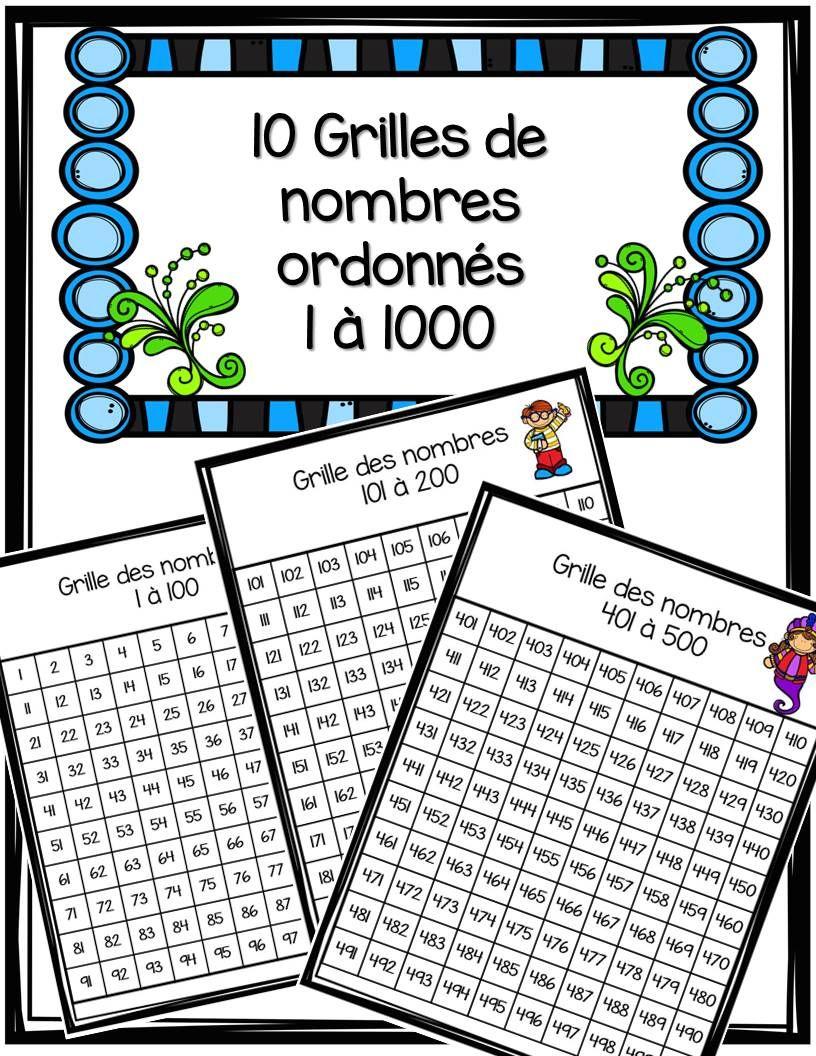 Grille De Nombres 0 À 1000 | Mathématiques Au Cour à Jeux D Écriture Gratuit