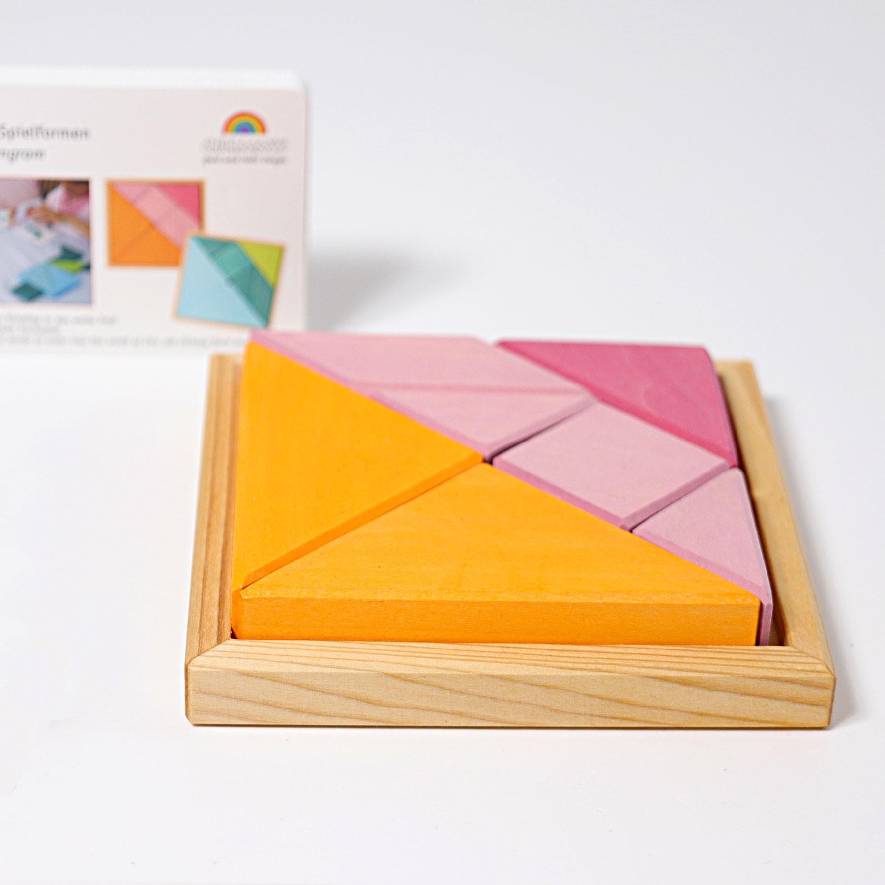 Grimms Creative Tangram Set - Orange-Pink tout Tangram Cycle 3