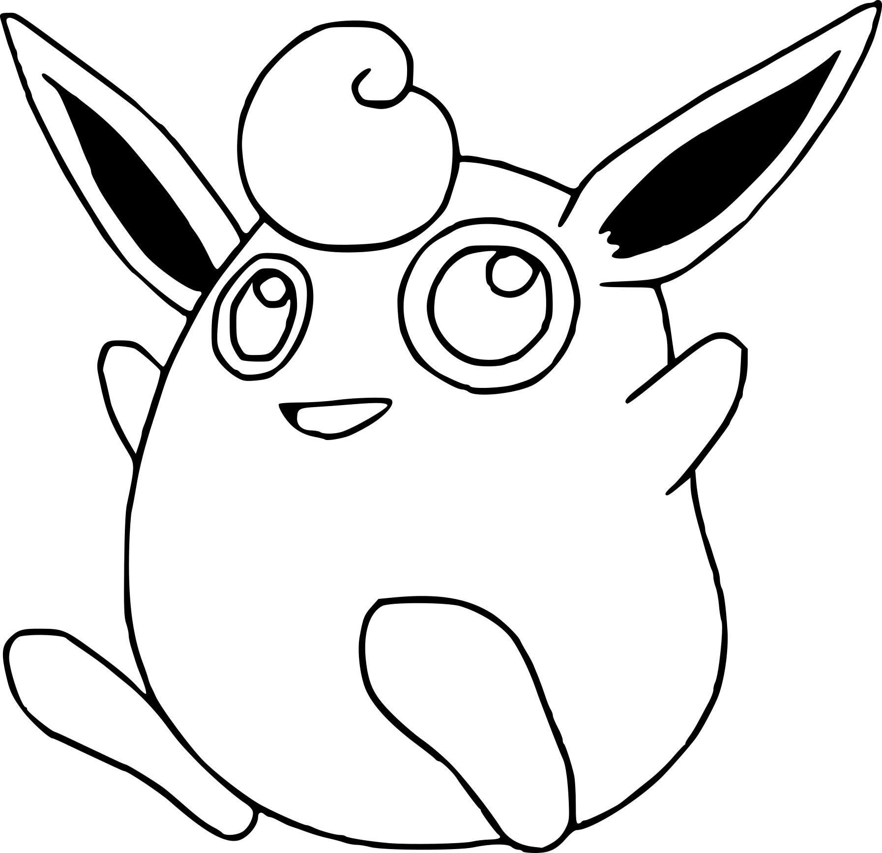 Grodoudou : Coloriage Grodoudou Pokemon À Imprimer pour Dessin De Doudou