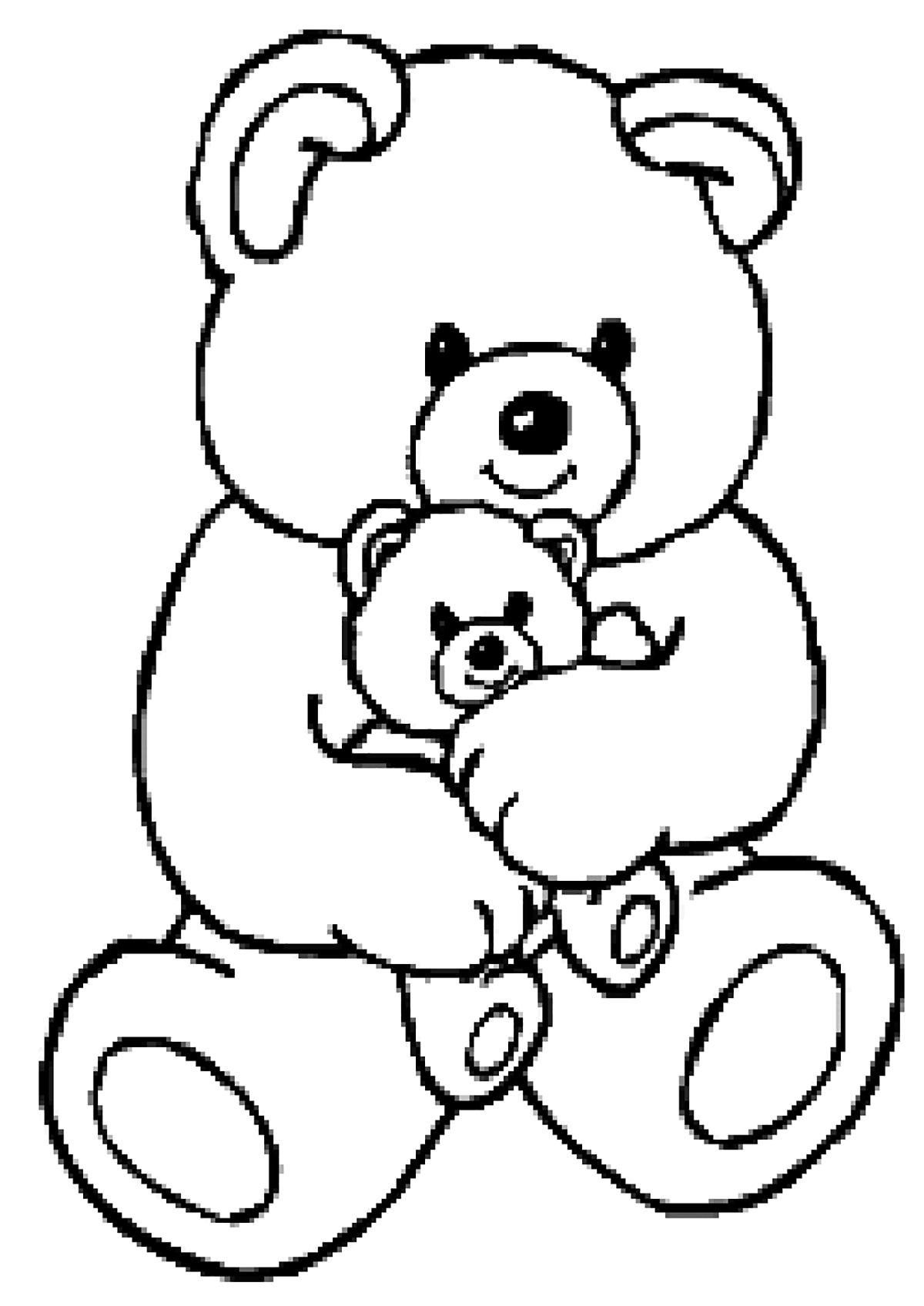 Gros Ours - Coloriage D'oursons - Coloriages Pour Enfants intérieur Dessin De Doudou