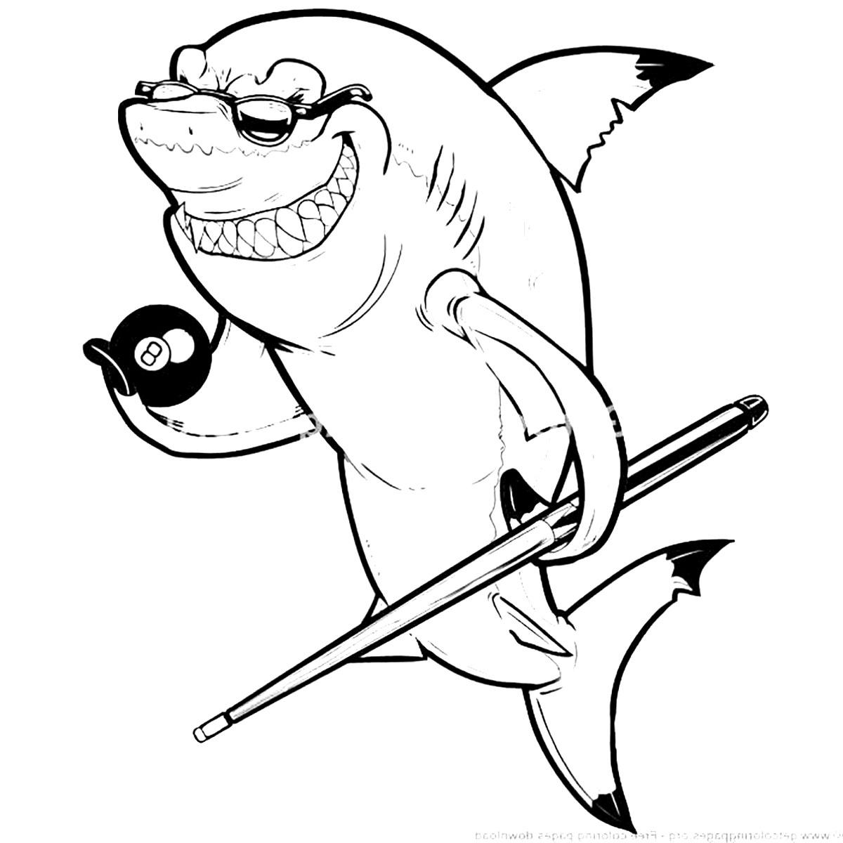 Gros Requin - Coloriage De Requins - Coloriages Pour Enfants pour Coloriage Requin Blanc Imprimer