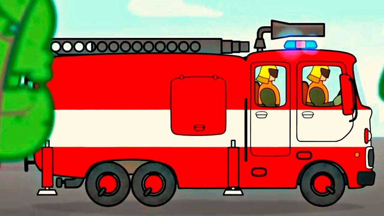 Gros Véhicules Pour Petits Enfants - Camion De Pompiers encequiconcerne Jeux De Camion De Pompier Gratuit