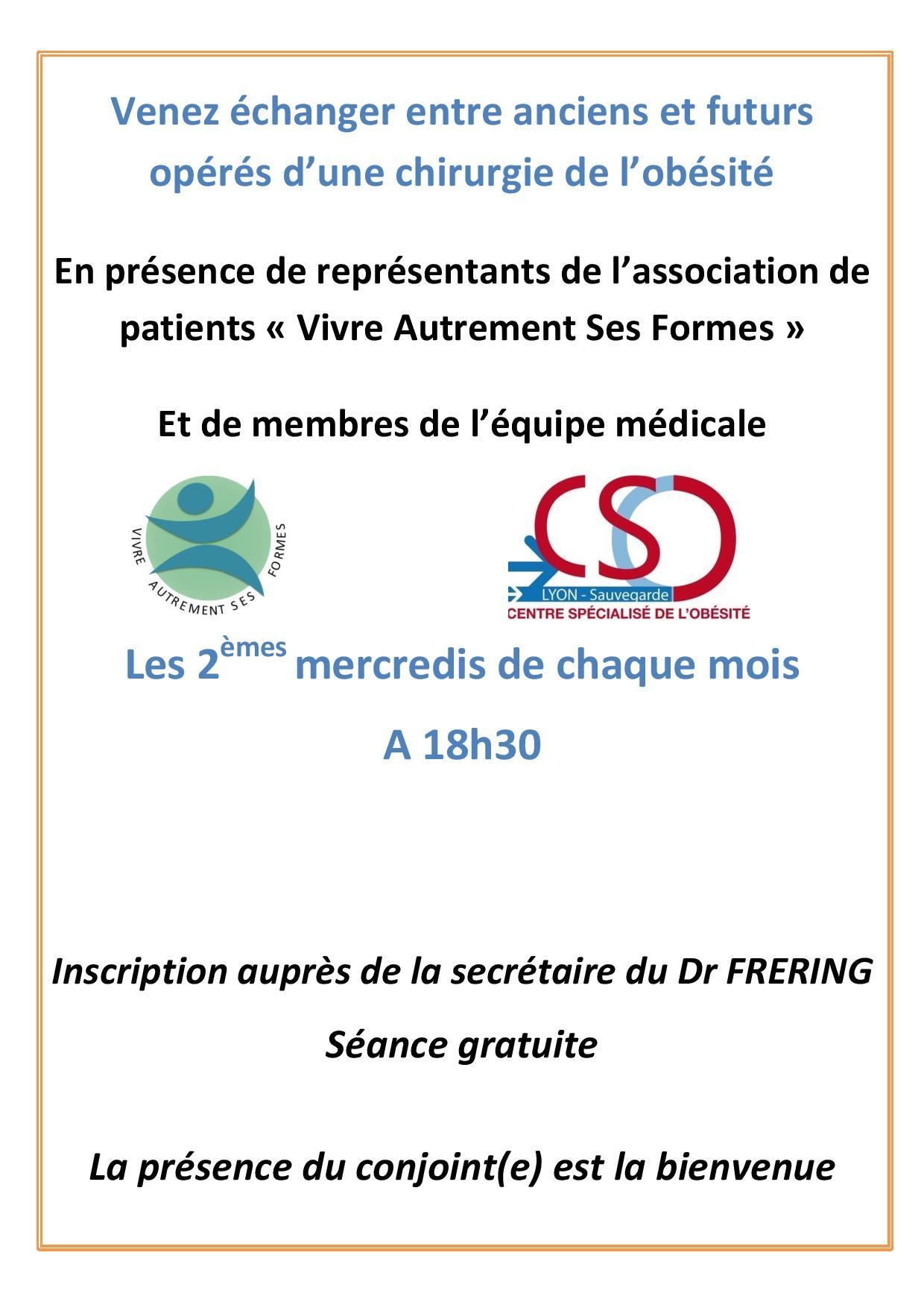 Groupe D'échange Entre Patients Avec L'association Vasf avec Association De Formes