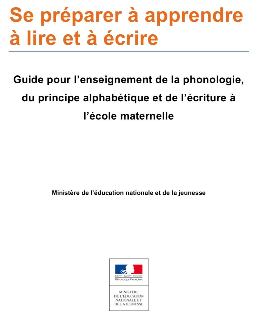 """Guide """"Se Préparer À Apprendre À Lire Et À Écrire intérieur Apprendre Ecriture Maternelle"""
